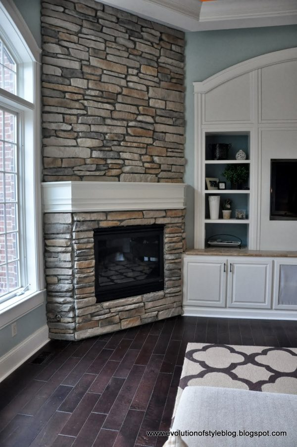 Best Diy Stone Fireplace Reveal For Real  Evolution Of Style Medium