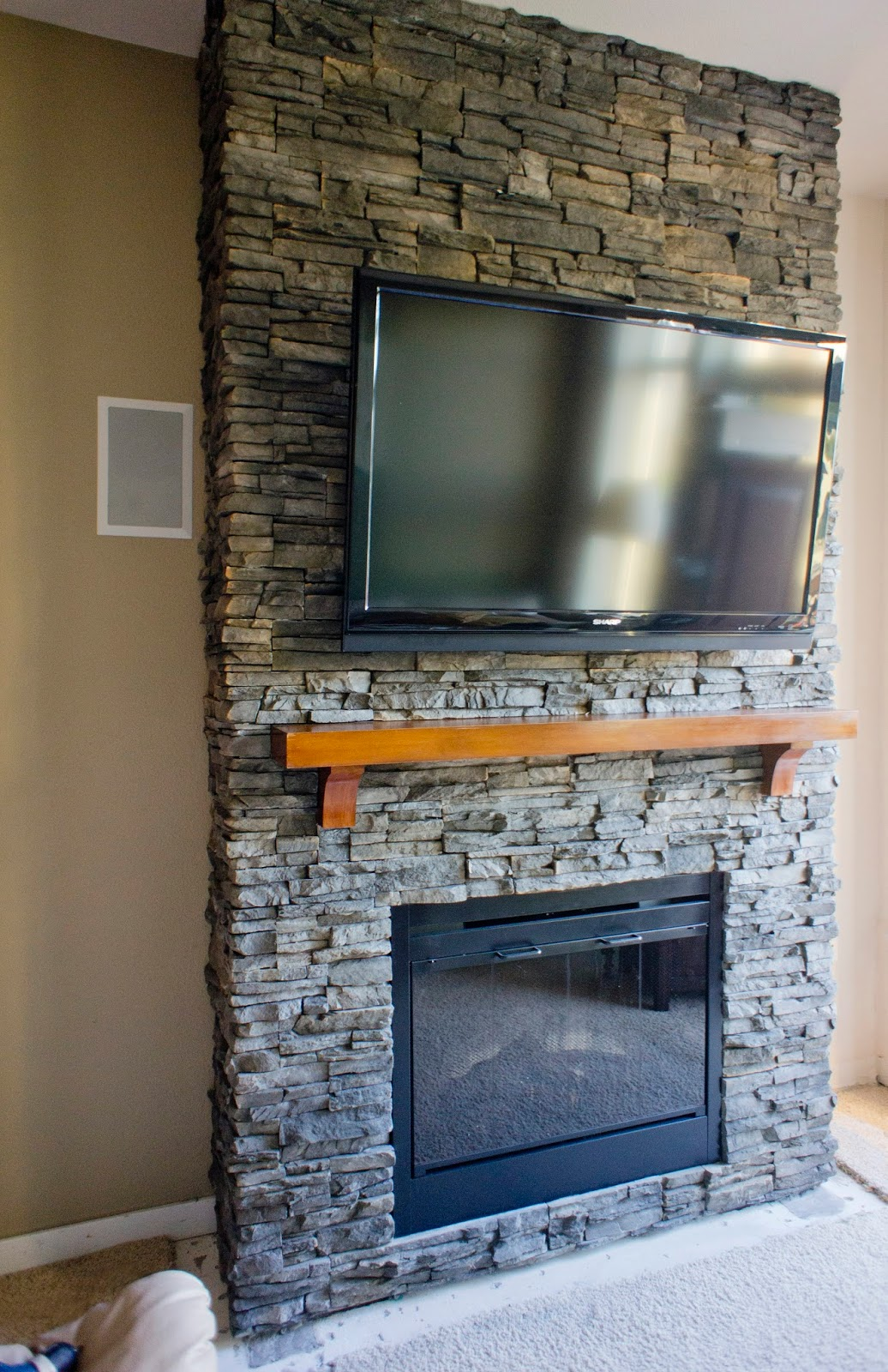 best hirondelle rustique diy stacked stone fireplace first