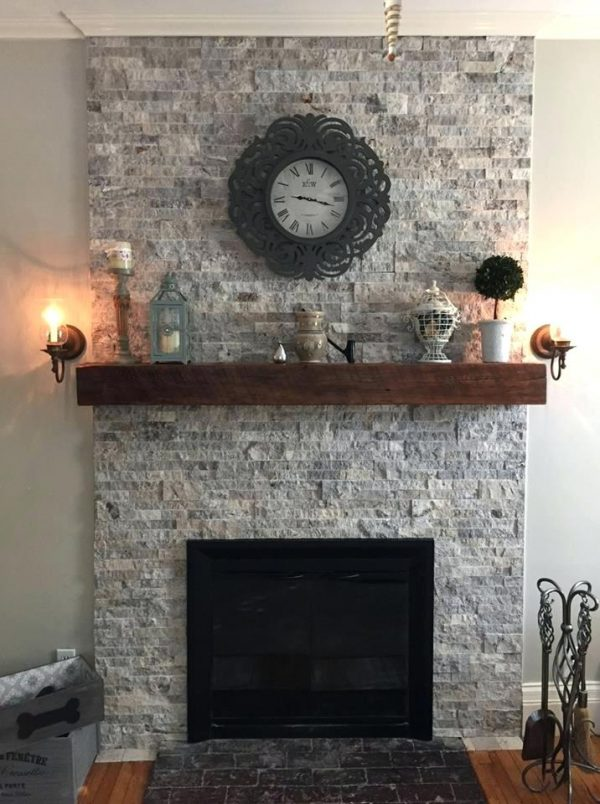 Best Stacked Travertine Fireplace Stacked Stone Fireplace New Medium