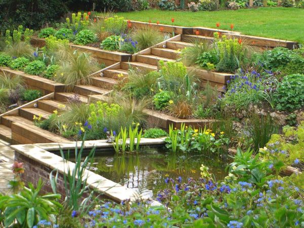 Bore 1000  Ideas About Terraced Garden On Sloping Medium