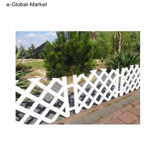 Bore Garden Fence Lawn Edging Plastic Picket 35m Fencing 5 Medium