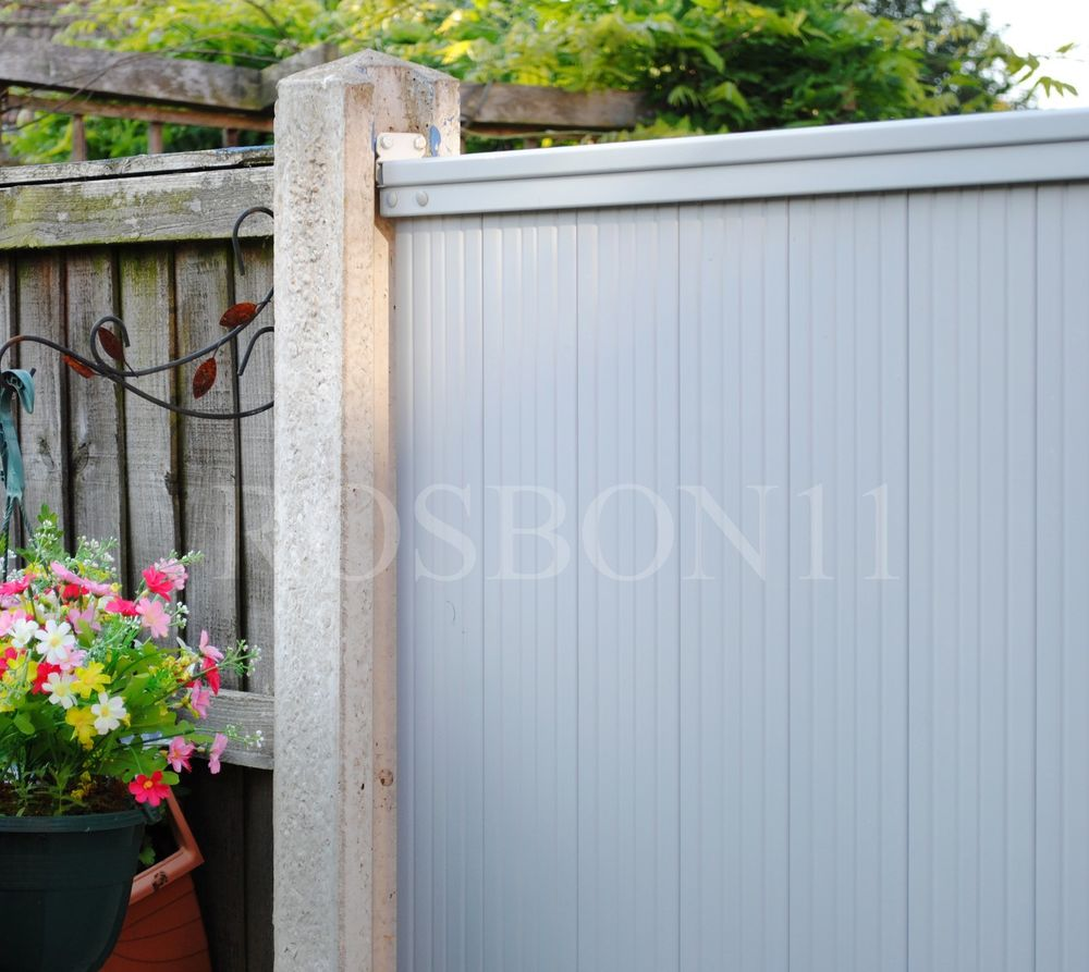bore pvc plastic fence panels reinforced with metal profile