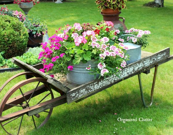 Bore Rustic Garden Wheelbarrow 2015organized Clutter Medium