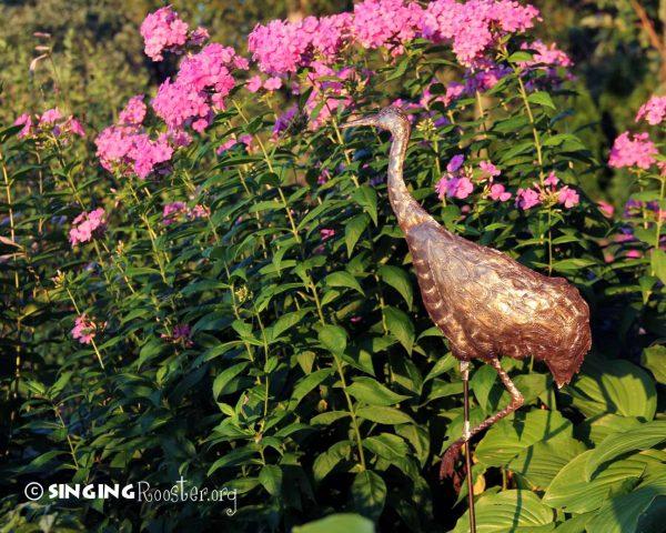 Bore Sandhill Crane Garden Stake Handmade Croix Des Bouquet Haiti Medium