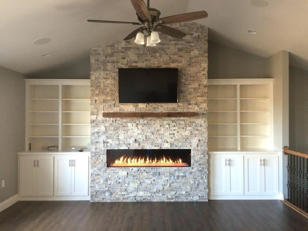 bore silver travertine fireplace heat with silver stacked stone