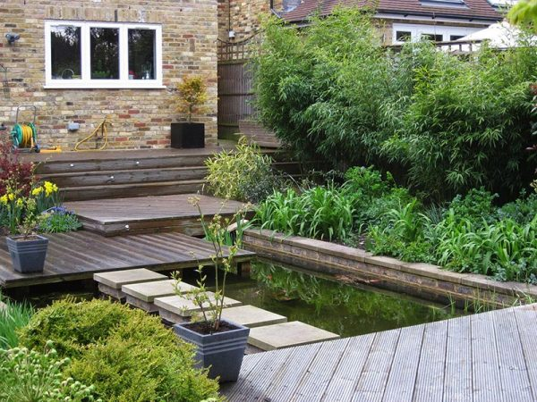 Bore Sloping Garden Design Ideas Quiet Corner Medium