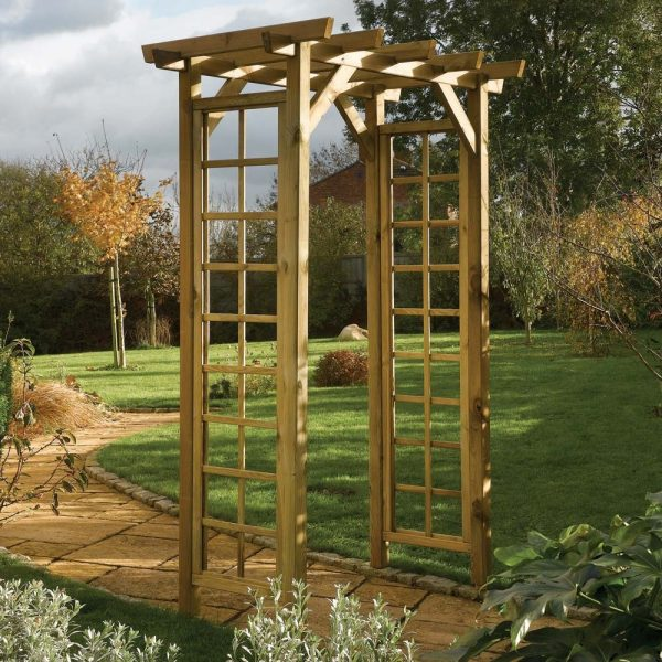 Bore Wooden Square Top Garden Arch Westmount Living Medium