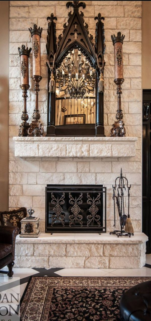 Browse 17 Best Ideas About White Stone Fireplaces On Medium