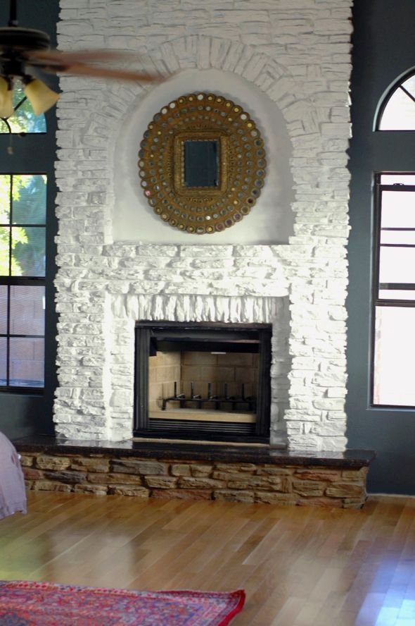 Browse 25  Best Ideas About Painted Stone Fireplace On Medium