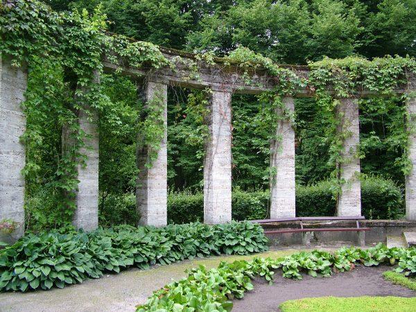 Browse Arch Arches Overgrown Garden Bench Column Columns Greek Medium