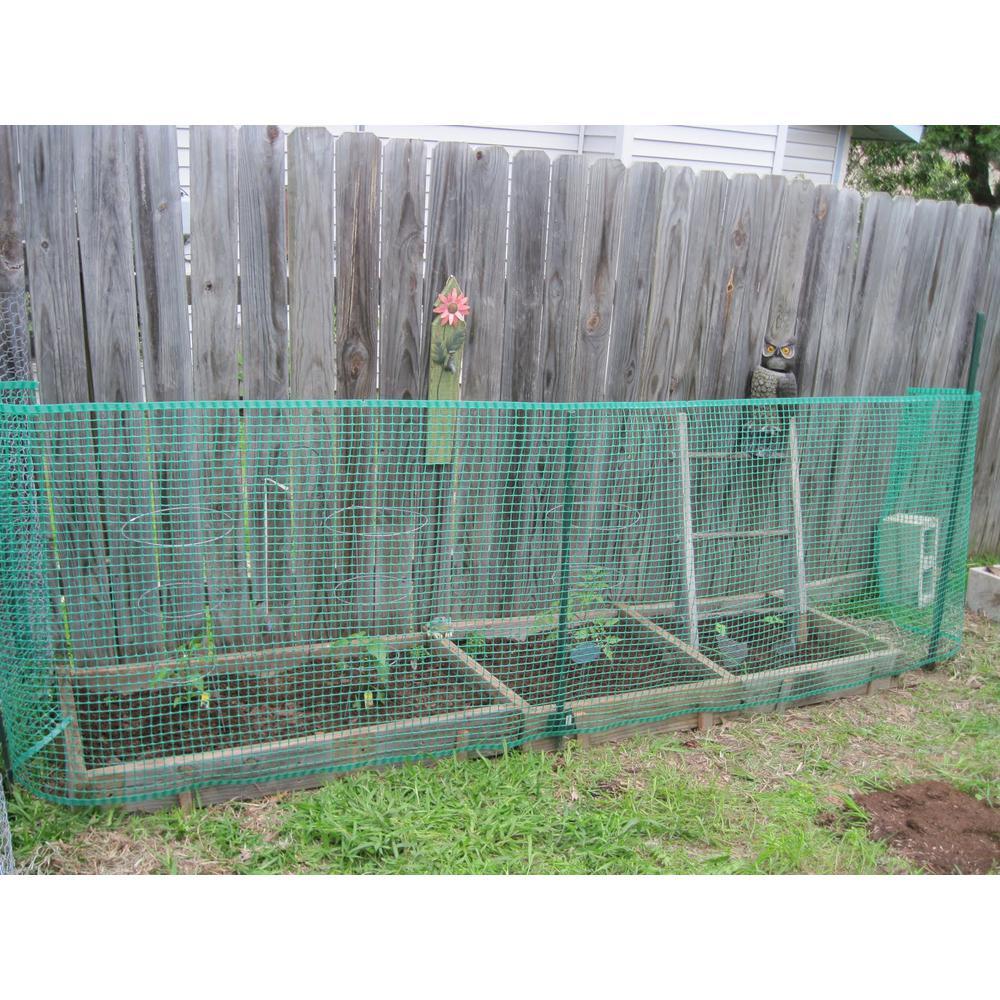 browse boen 40 in x 25 ft green plastic garden fencegf50001