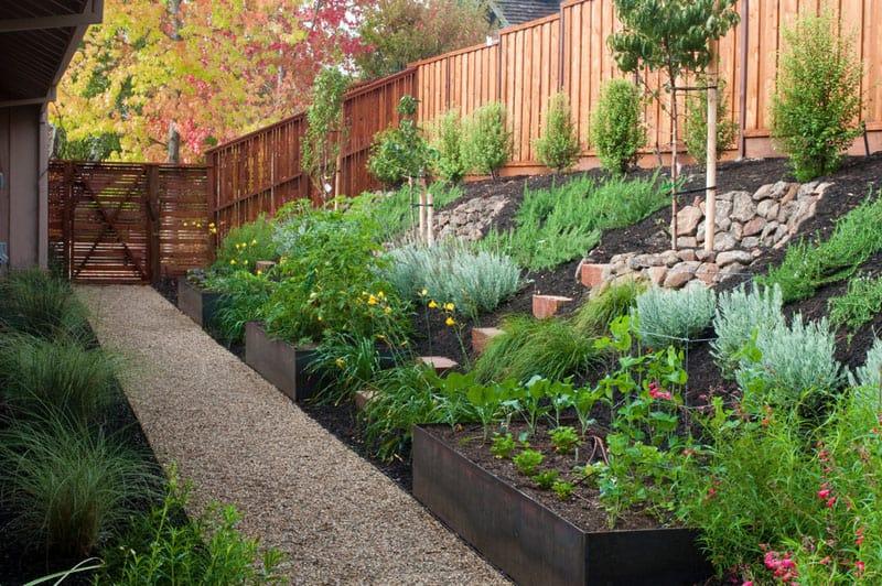 browse how to turn a steep backyard into a terraced garden