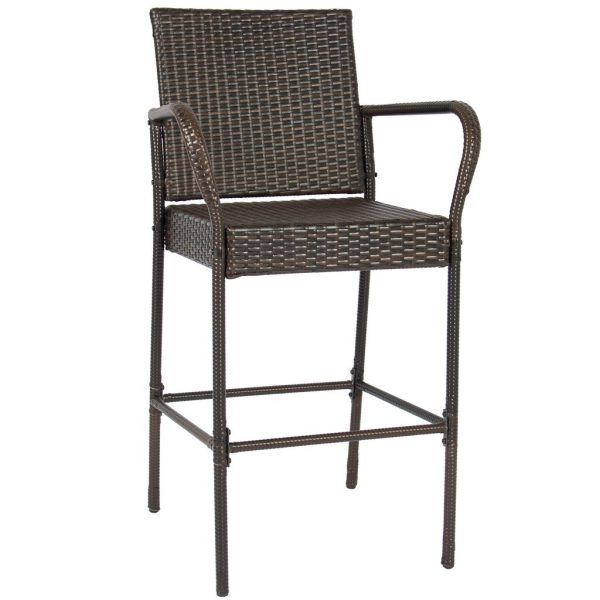 Browse Set Of 2 Wicker Bar Stools  Best Choice Products Medium