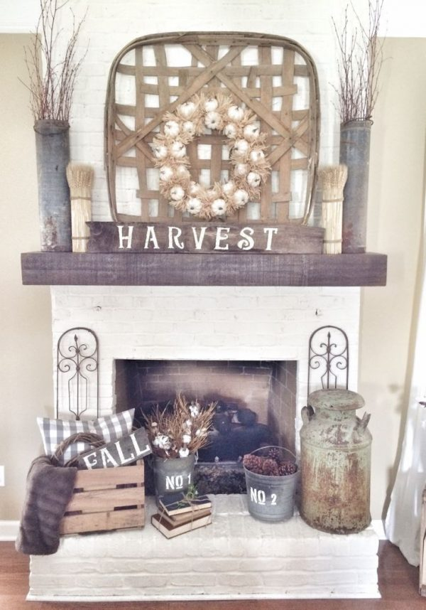 Clever Best 25  Fall Fireplace Decor Ideas On Fall Medium