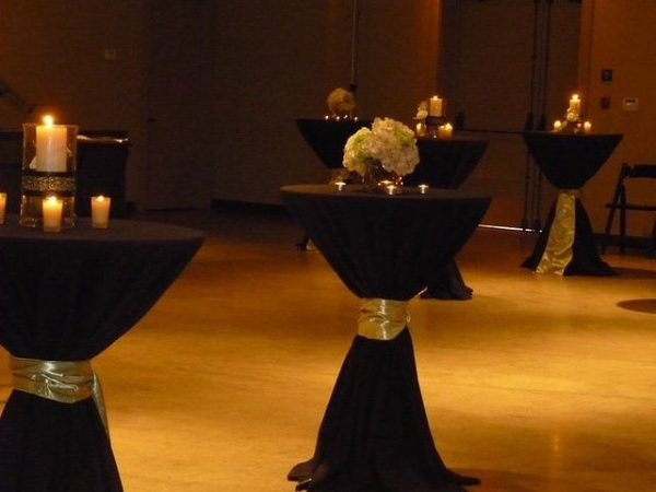 Clever Black Linen Table Ideascocktail Tables With Black Medium