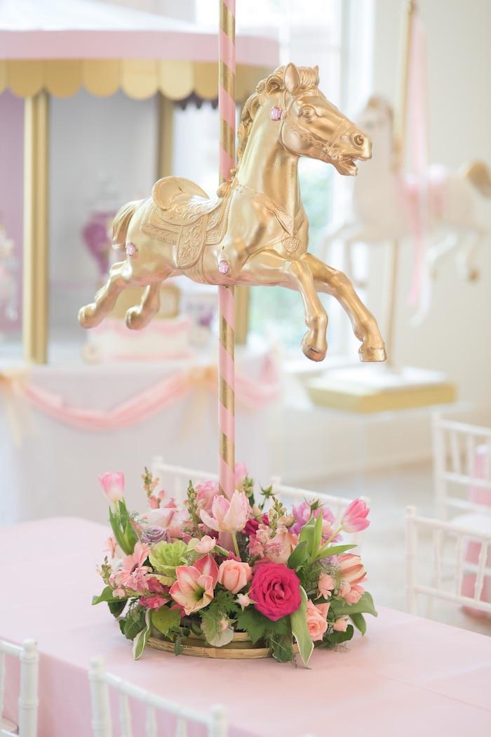 clever karas party ideas pink carousel birthday partykaras