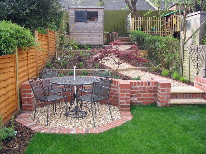clever leafy retreat a long narrow partially sloping garden