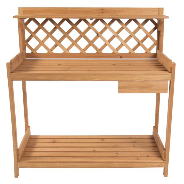 Clever Potting Bench Outdoor Garden Work Bench Station Planting Medium