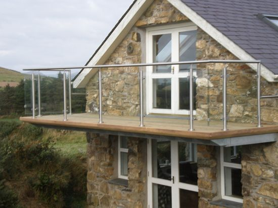 clever steel frame balcony on gable endbuildings