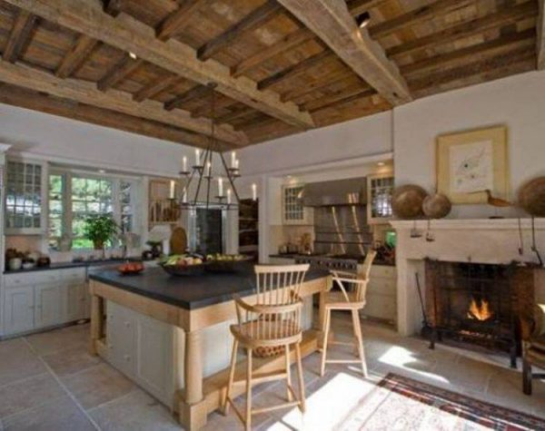 Collection 20 Kitchen Ideas With Fireplaces Medium