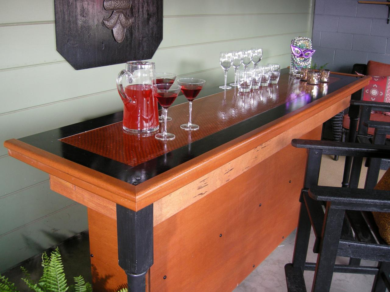 collection build a bar using a reclaimed door for the tophgtv