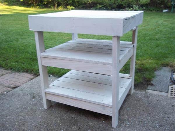 Collection Diy Pallet Garden Workbench  Bbq Table  101 Pallets Medium
