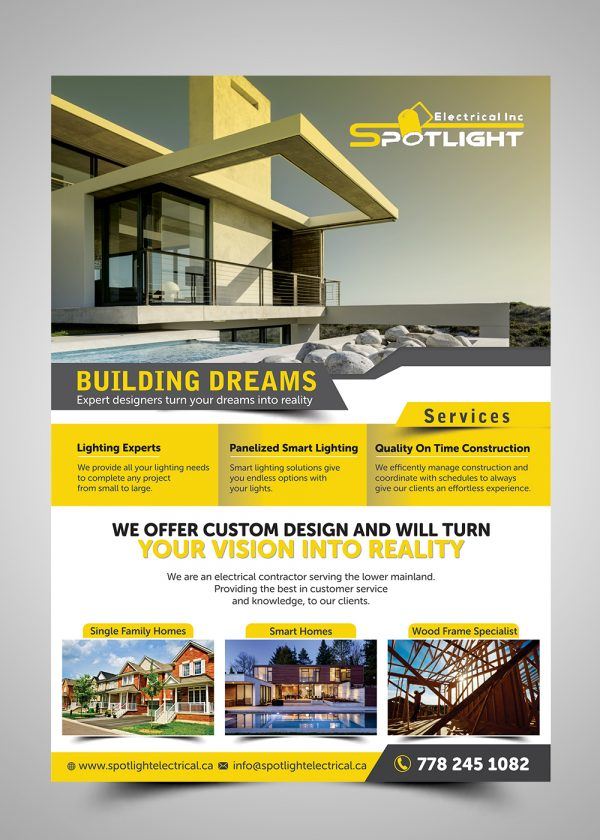 Collection Electrical Flyer Design For Spotlight Electrical Inc By Medium