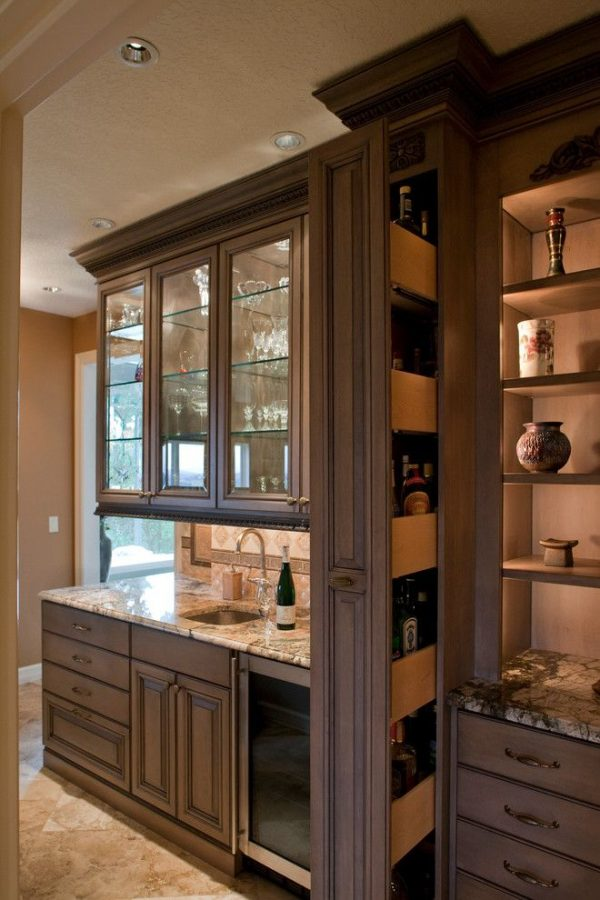 Collection Hidden Liquor Cabinet Kitchen Traditional With Award Medium