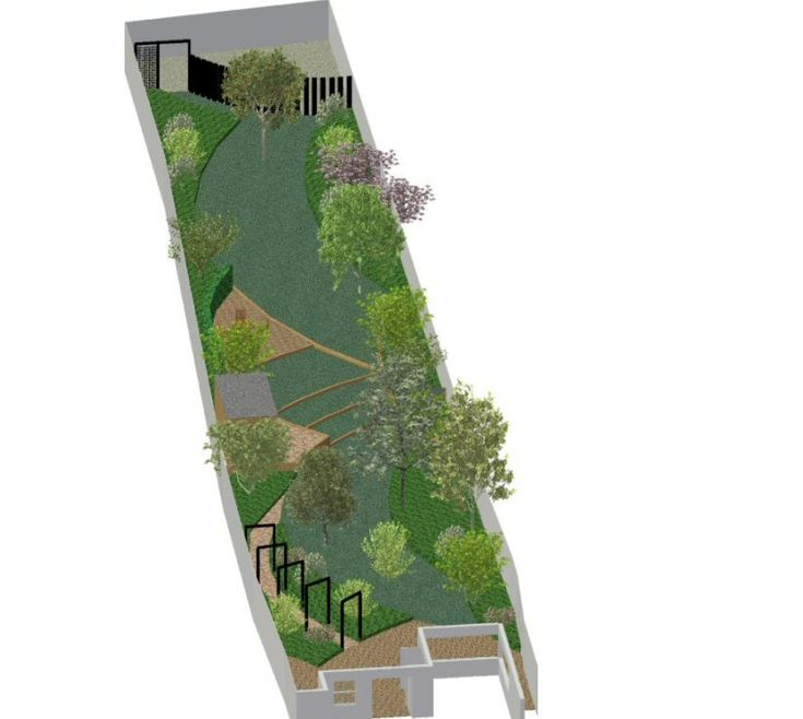 collection long narrow side yardsdesigning garden design