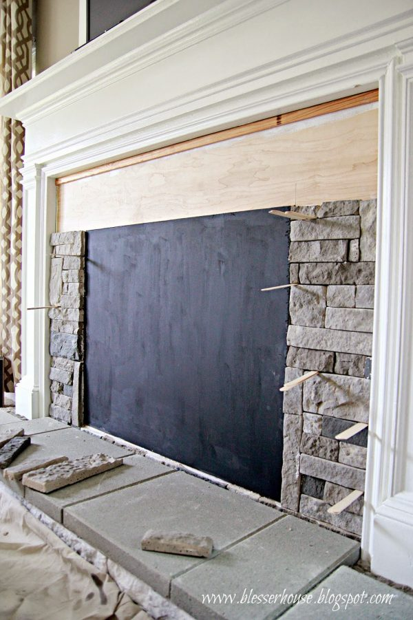 Collection Remodelaholichow To Build A Faux Fireplace And Mantel Medium