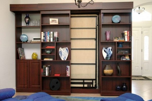 Collection Sliding Doors Secretsliding Bookshelf Hides Murphy Bed Medium