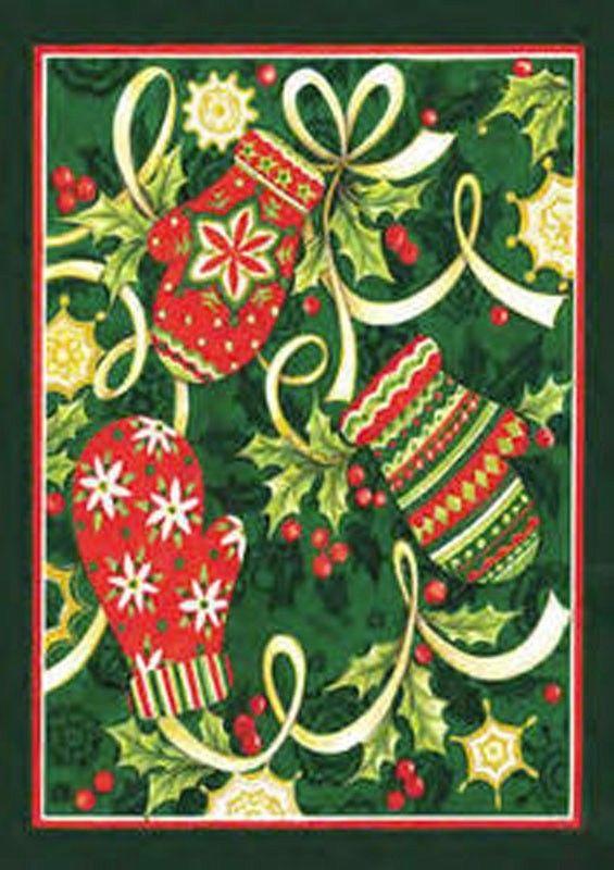 Collection Winter Mittens Christmas Garden Flag Holiday Yard Banner Medium