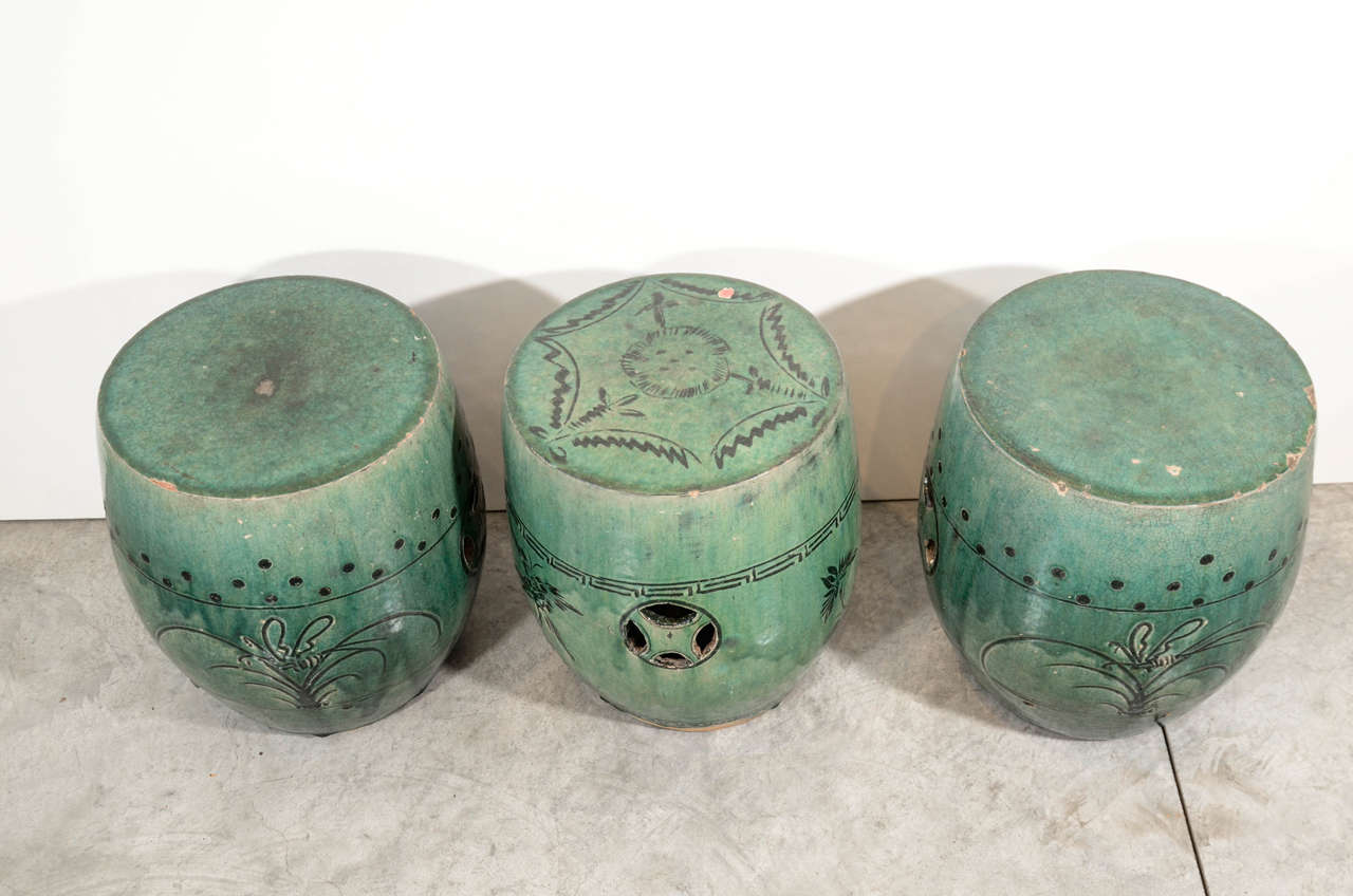creative antique chinese ceramic garden stools at 1stdibs