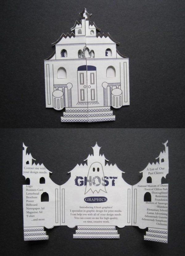 Creative Cool Idea Using A Building Shape For The Brochure Medium