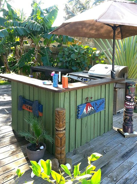 Creative Home Dzine Garden Ideasdiy Outdoor Bar Ideas Medium