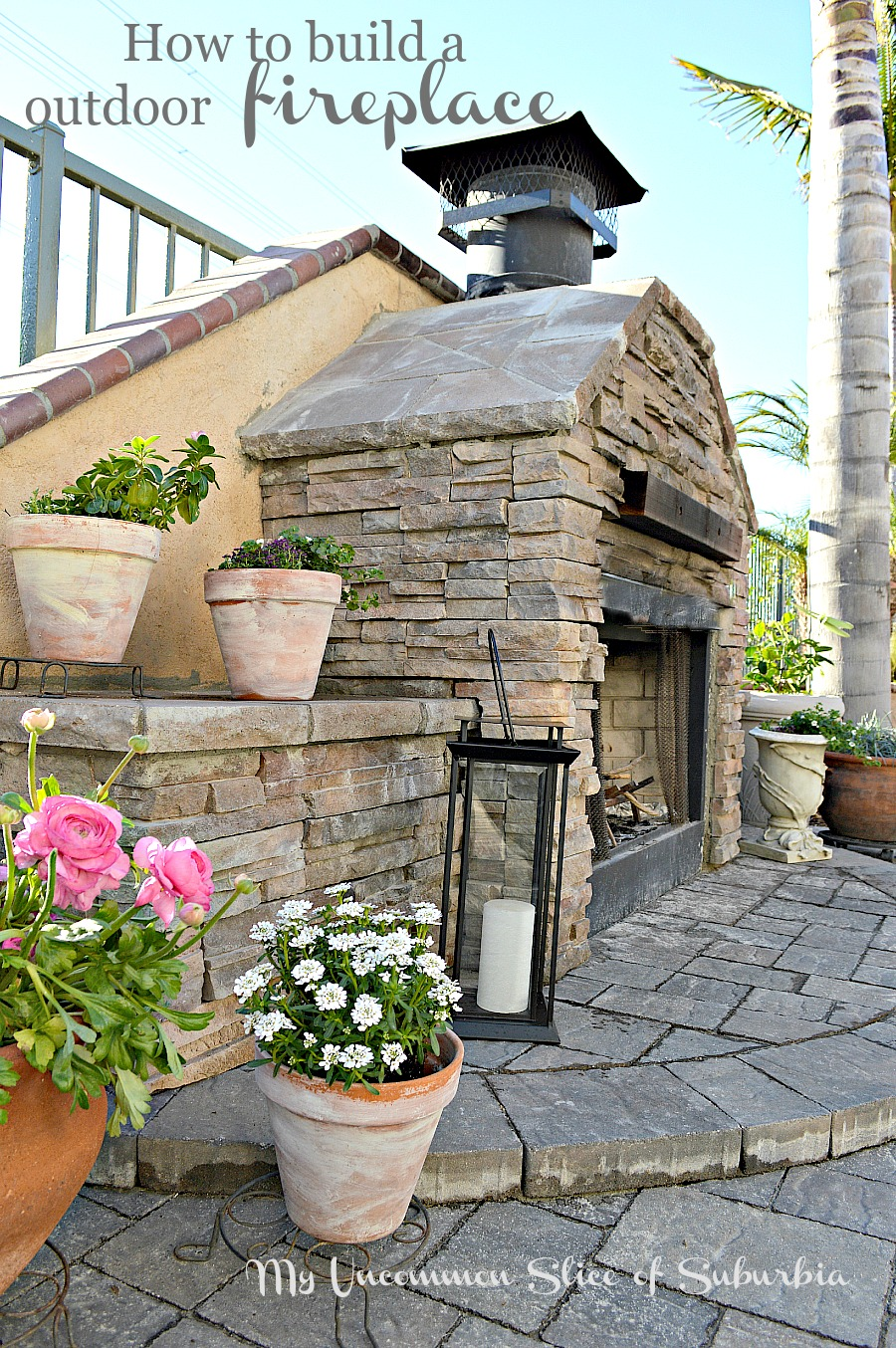 creative how to build an outdoor stacked stone fireplace