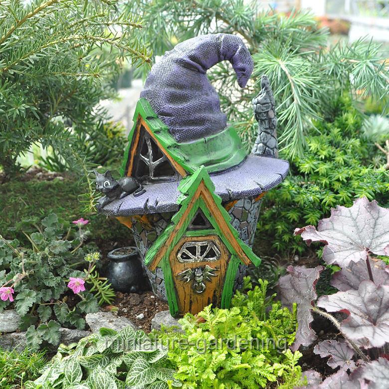 creative miniature fairy garden witch hat houseebay