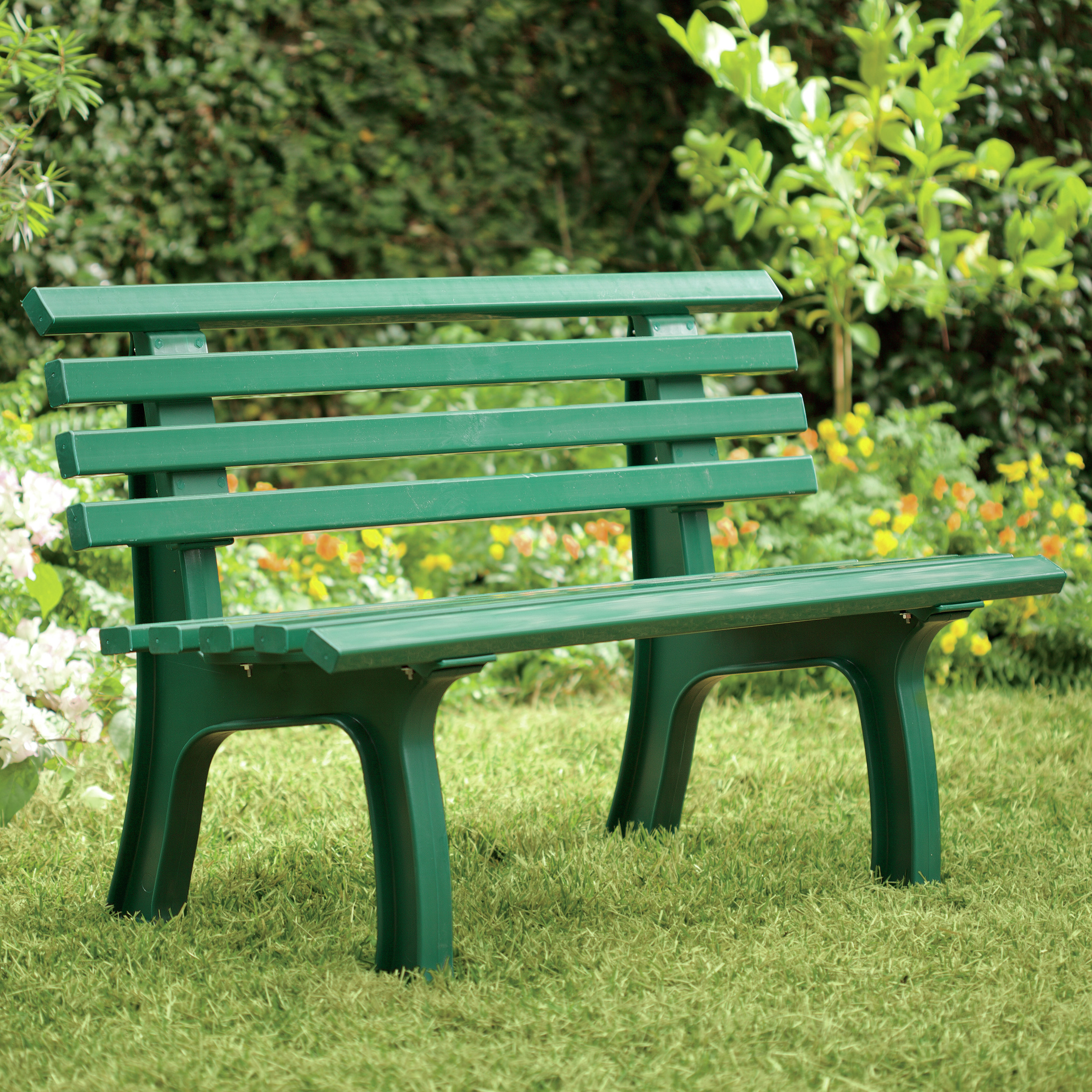 creative plow   hearth resin park bench   reviewswayfair
