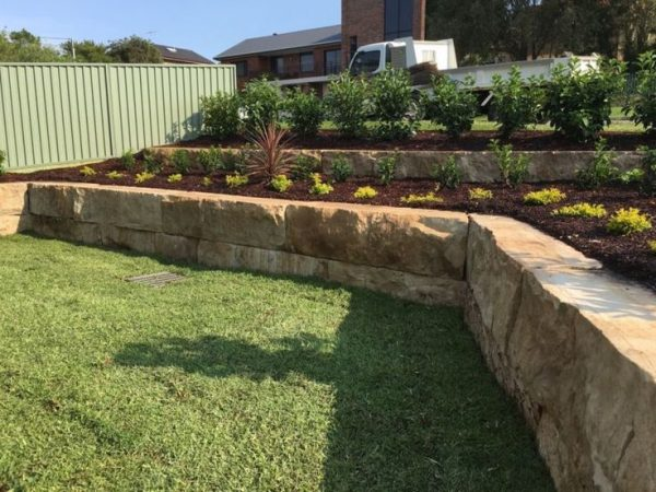 creative sandstone blocks for retaining walls parks sloping sites medium