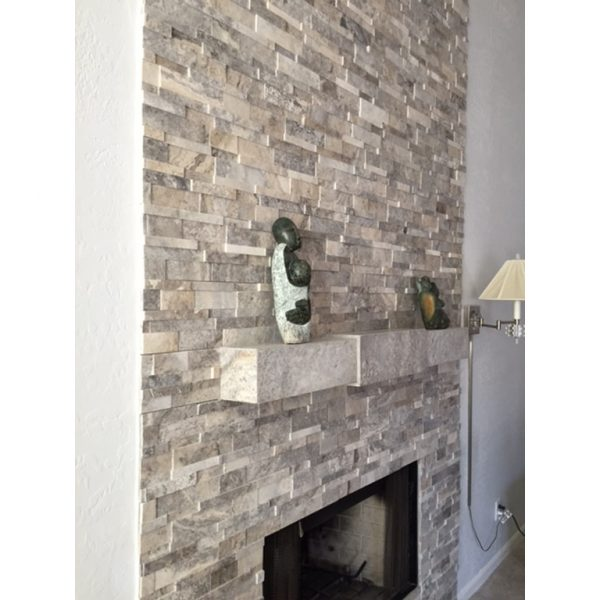 Creative Silver Travertine Stack Stoneqdi Surfaces Medium