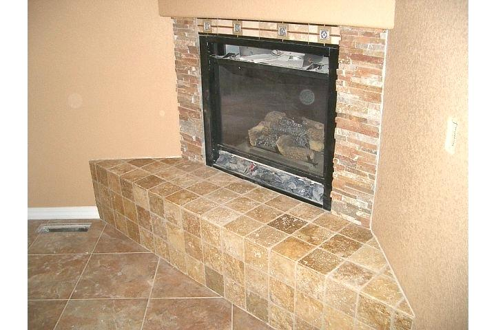 creative stacked travertine fireplace tile  forforainfo