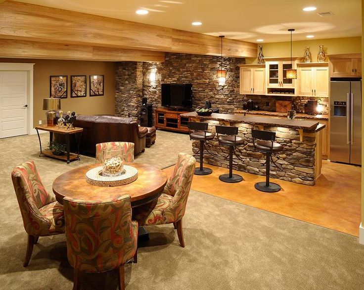example of a 25  best ideas about finished basement bars on