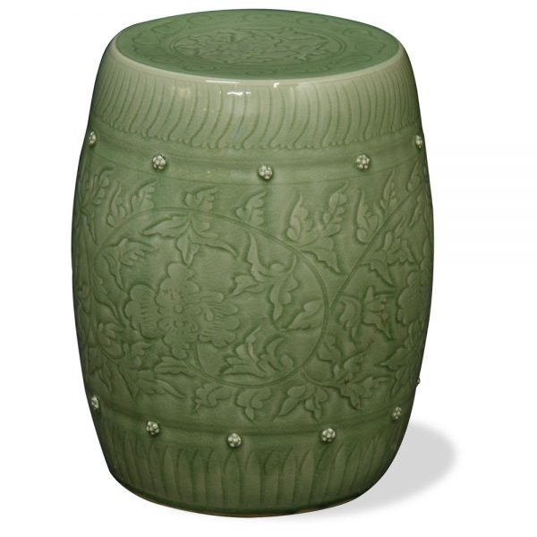 Example of a Antique Chinese And Asian Garden Accent Garden Stool Ideas