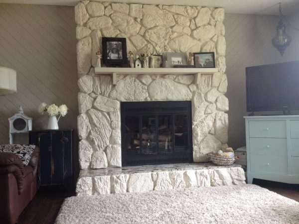 Example Of A Best 25  Painted Rock Fireplaces Ideas On Medium