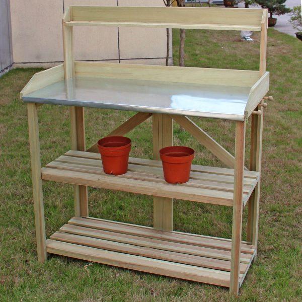 Example Of A Costway Costway Outdoor Garden Wooden Potting Work Bench Medium