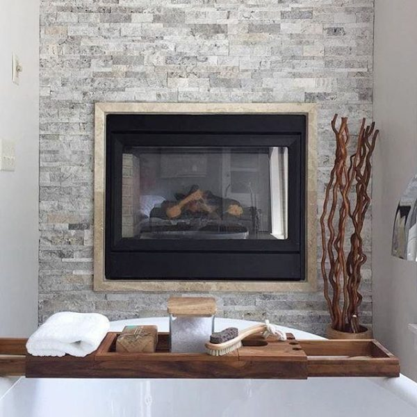 Example Of A Fireplace Tile Claros Silver Architectural Travertine Medium