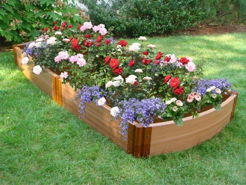 example of a garden bed ideas on frontyard and backyard homescornercom