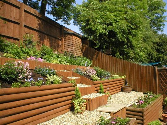 Example Of A Landscaping A Slope On Hillside Landscaping Medium
