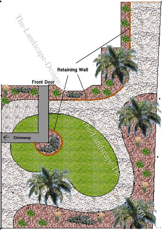 Example Of A Landscaping Ideas For A Long Narrow Front Yardfor The Medium
