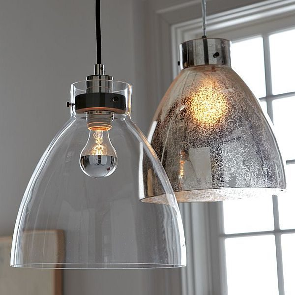 Example Of A Minimalist Glass Pendant With An Industrial Design Medium